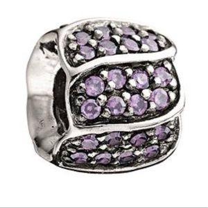 Chamilia Swarovski purple bead charm